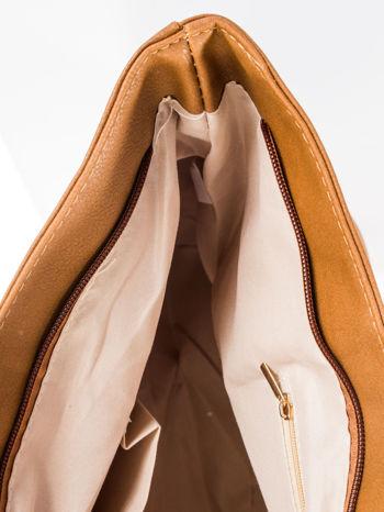 Brązowa torba ze złotym detalem                                  zdj.                                  8