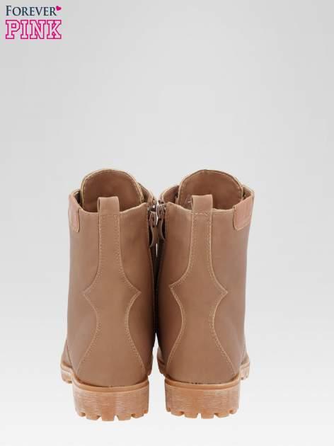 Brązowe damskie buty trekkingowe typu traperki                                  zdj.                                  3