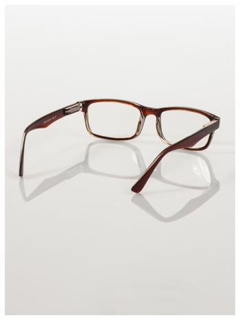 Brązowe okulary korekcyjne +2.0 D ,model WAYFARER do czytania z systemem FLEX na zausznikach +GRATIS PLASTIKOWE ETUI I ŚCIERECZKA Z MIKROFIBRY                                  zdj.                                  5