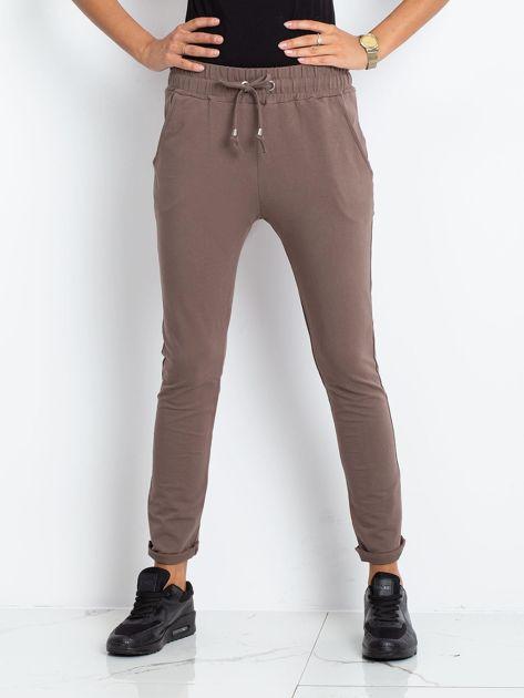 Brązowe spodnie Cadence                              zdj.                              1