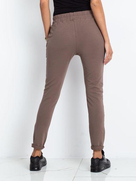 Brązowe spodnie Cadence                              zdj.                              2