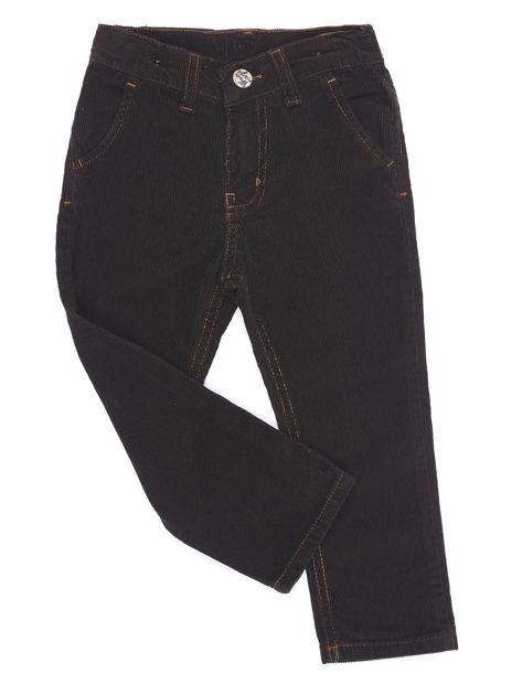 Brązowe sztruksowe spodnie dla chłopca                              zdj.                              1