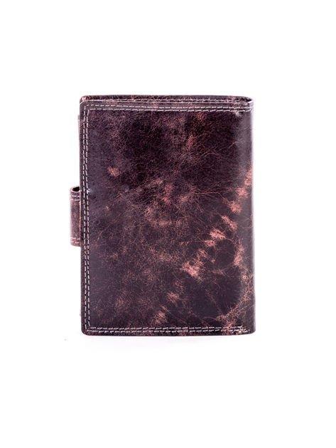 Brązowy cieniowany portfel męski ze skóry naturalnej                              zdj.                              2