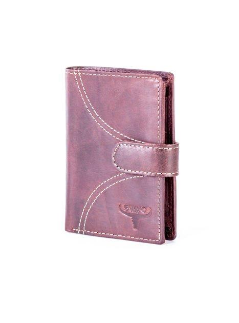Brązowy elegancki portfel dla mężczyzny                              zdj.                              1