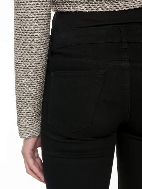 Brązowy melanżowy dzianinowy mini żakiet zapinany na jeden guzik                                  zdj.                                  9