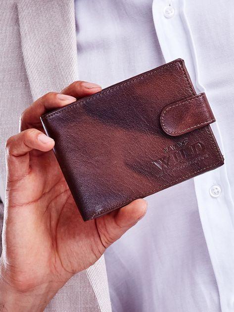 Brązowy męski portfel z cieniowaniem                              zdj.                              1