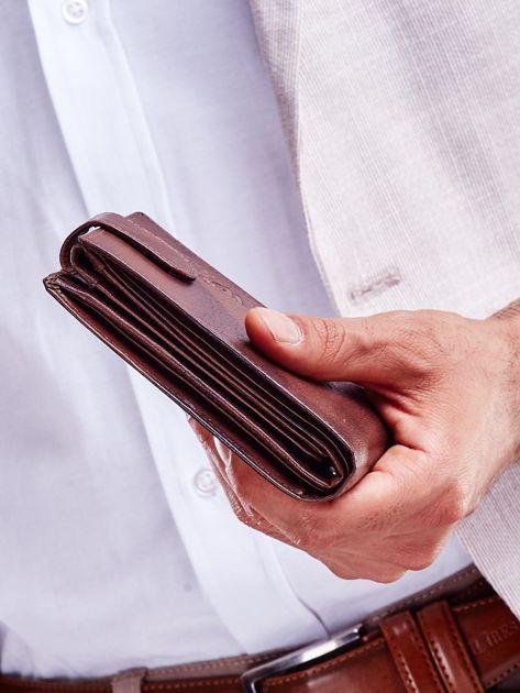 Brązowy męski portfel z cieniowaniem                              zdj.                              4
