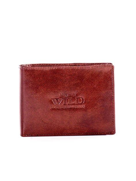 Brązowy miękki skórzany portfel dla mężczyzny