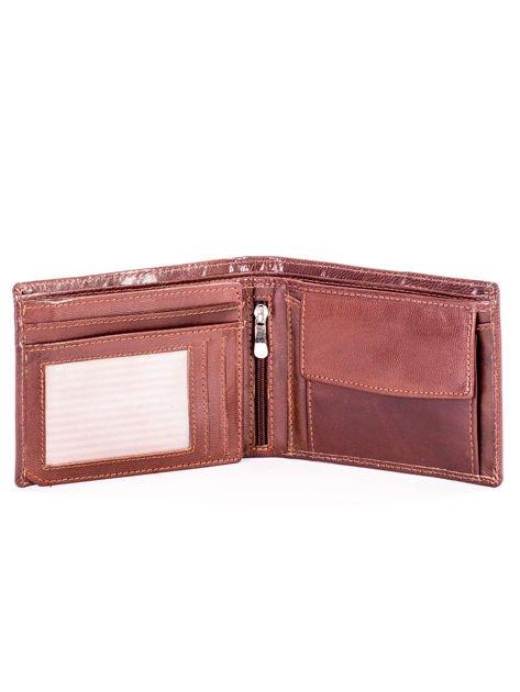 Brązowy miękki skórzany portfel dla mężczyzny                              zdj.                              4
