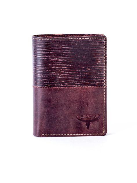 Brązowy modułowy skórzany portfel                               zdj.                              1