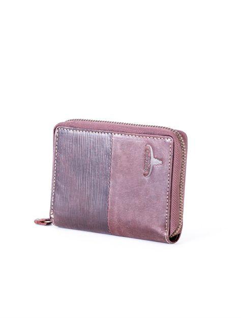 Brązowy portfel dla mężczyzny na suwak                              zdj.                              3