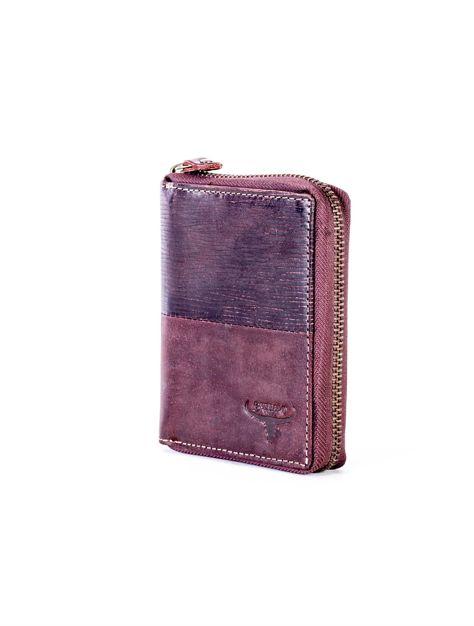 Brązowy portfel dla mężczyzny na suwak                              zdj.                              4