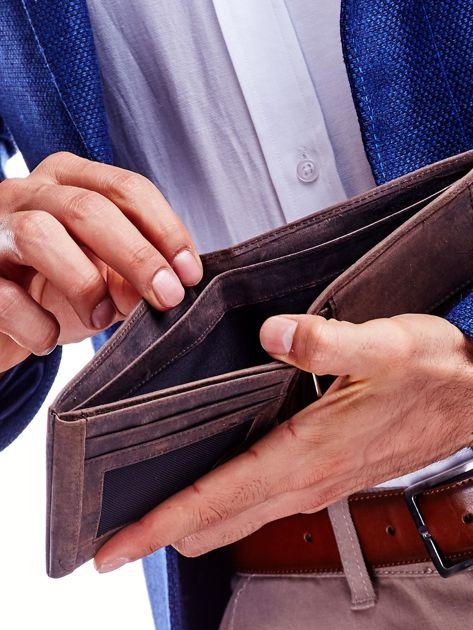 Brązowy portfel dla mężczyzny skórzany                              zdj.                              4