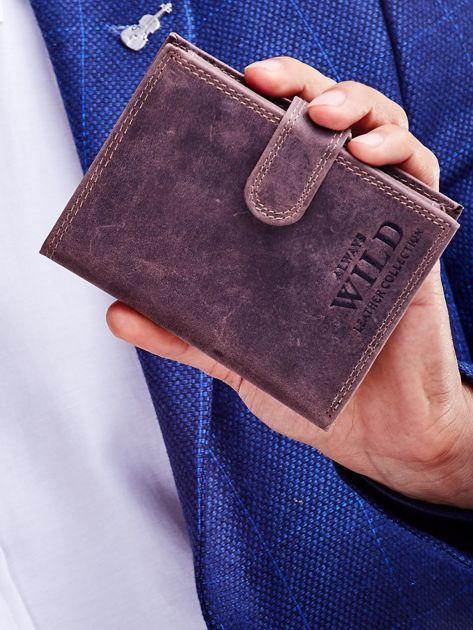 Brązowy portfel męski przecierany                              zdj.                              1