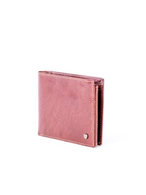 Brązowy portfel ze skóry naturalnej z przegródkami                              zdj.                              3