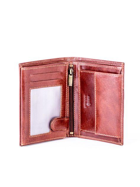 Brązowy skórzany portfel                               zdj.                              4