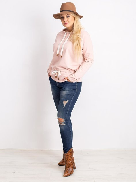 Brudnoróżowa bluzka plus size Khloe                              zdj.                              4