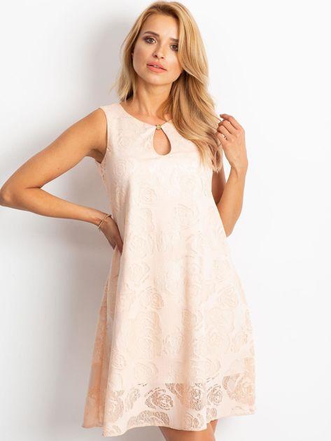 Brzoskwiniowa sukienka Free                              zdj.                              1