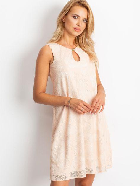 Brzoskwiniowa sukienka Give                              zdj.                              1