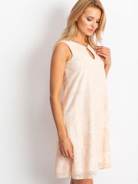Brzoskwiniowa sukienka Give                              zdj.                              3