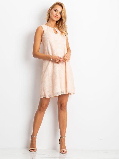 Brzoskwiniowa sukienka Give                              zdj.                              4