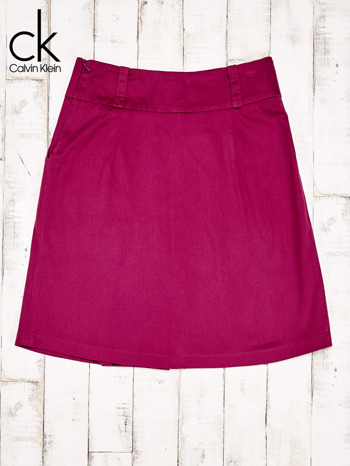 CALVIN KLEIN Fuksjowa spódnica z zakładkami                                  zdj.                                  2