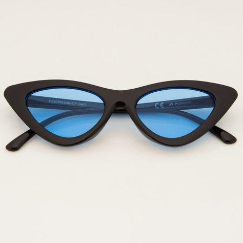 CAT EYE Czarne damskie okulary przeciwsłoneczne KOCIE OCZY                              zdj.                              1