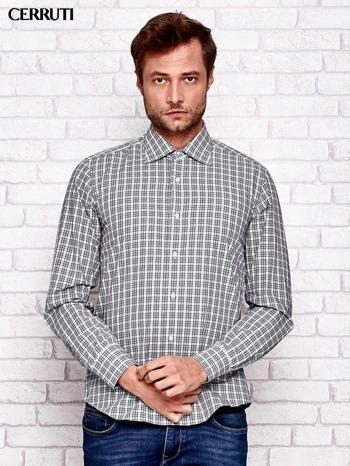 CERRUTI Ecru koszula męska w kratę                                  zdj.                                  1