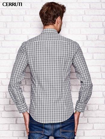 CERRUTI Ecru koszula męska w kratę