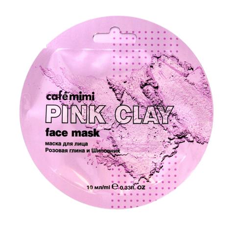 """Cafe Mimi Pink Clay Maseczka do twarzy Różowa Glinka & Dzika Róża  10ml"""""""