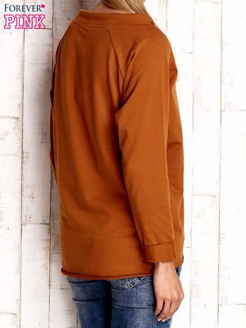 Camelowa bluzka z troczkami                                  zdj.                                  4