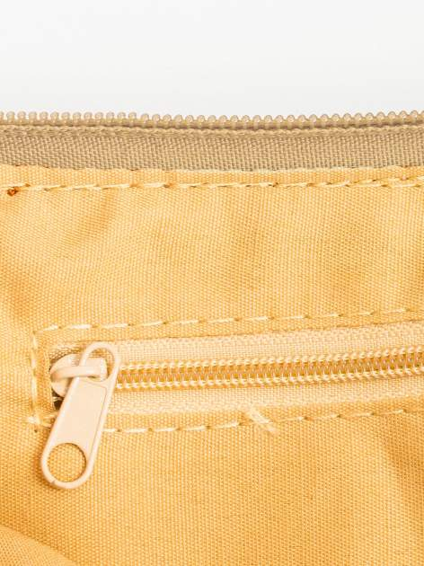 Camelowa kopertówka z dżetami motyw apple                                  zdj.                                  6
