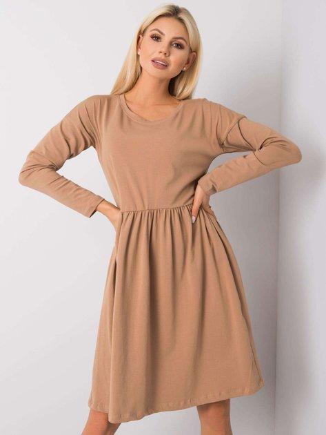 Camelowa sukienka Vega RUE PARIS