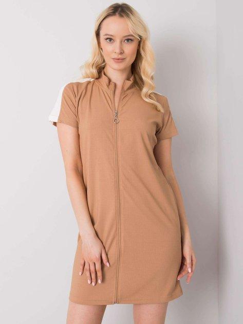 Camelowa sukienka na co dzień Seppa RUE PARIS
