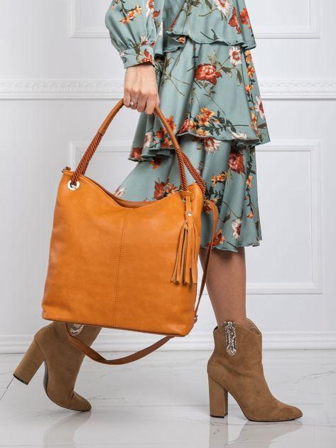 Camelowa torba w stylu boho