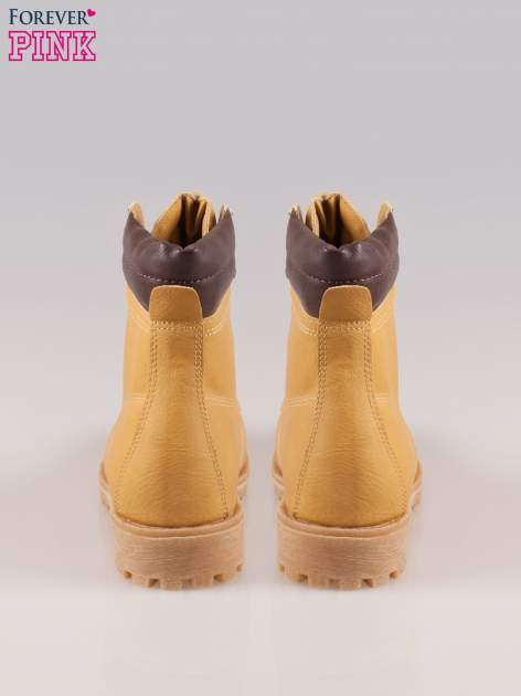 Camelowe buty trekkingowe damskie typu traperki                                  zdj.                                  3