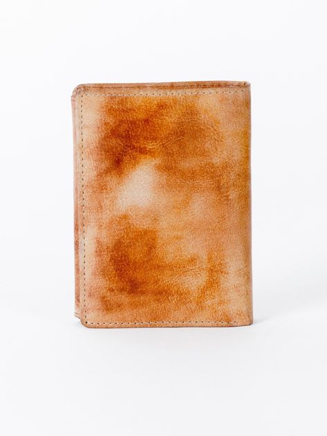 Camelowy cieniowany portfel ze skory naturalnej                              zdj.                              2