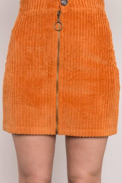 Ceglasta spódnica sztruksowa BSL