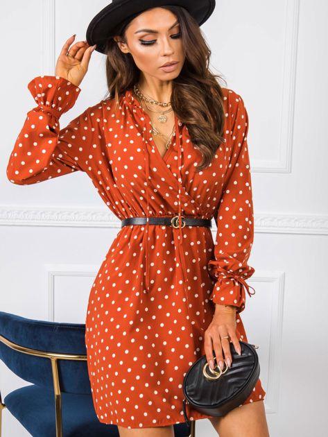 Ceglasta sukienka Amanda RUE PARIS