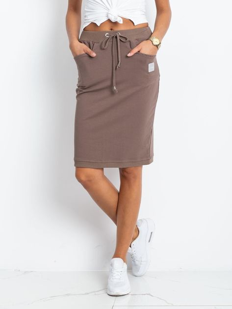 Ciemnobeżowa spódnica Features                              zdj.                              1