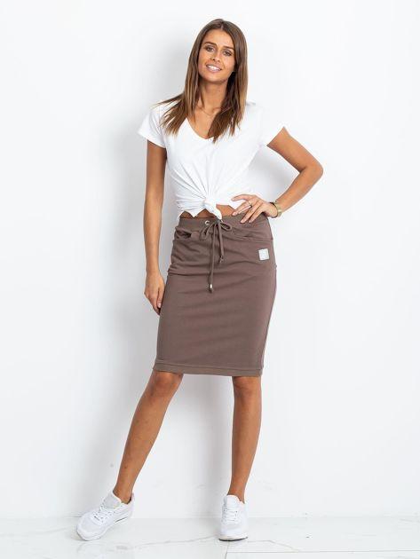 Ciemnobeżowa spódnica Features                              zdj.                              4