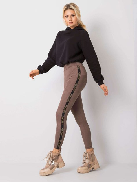 Ciemnobeżowe legginsy Vanilla RUE PARIS