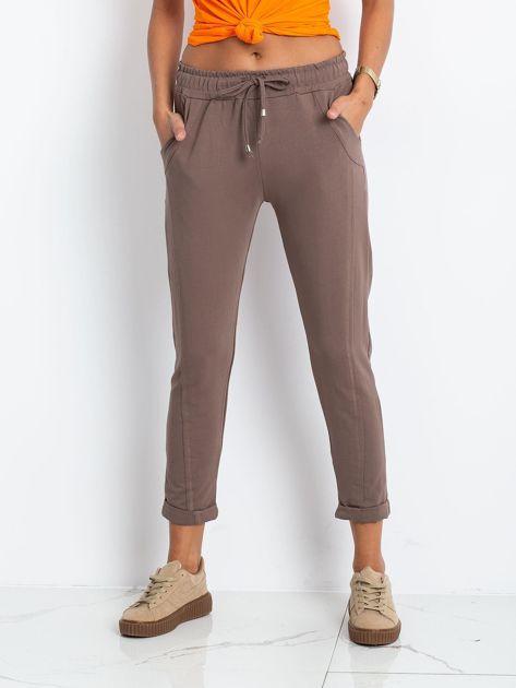 Ciemnobeżowe spodnie Approachable                              zdj.                              1