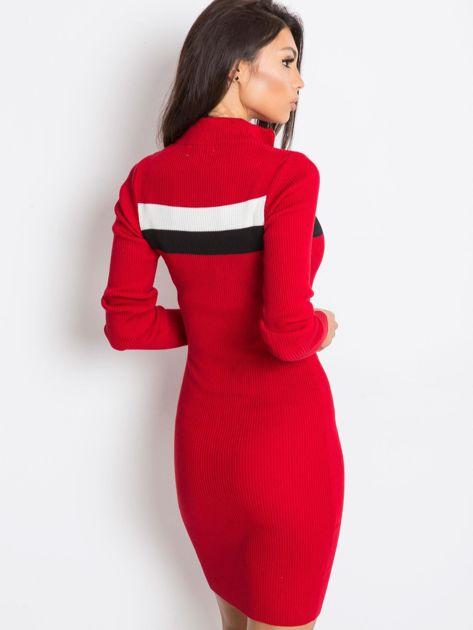 Ciemnoczerwona sukienka Freefall                              zdj.                              3
