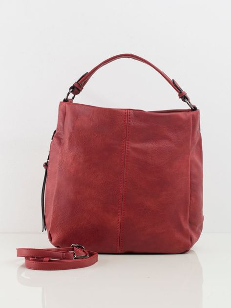 Ciemnoczerwona torba z ekologicznej skóry