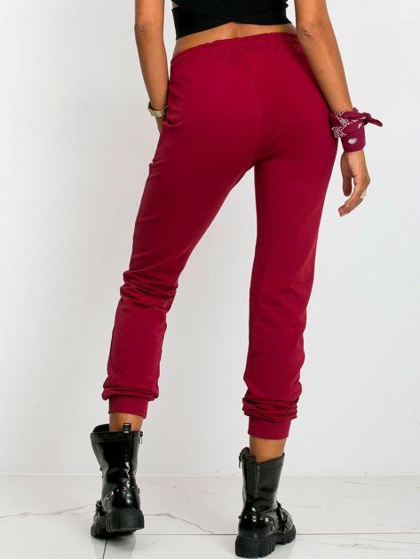 Ciemnoczerwone spodnie Faster                              zdj.                              2