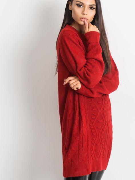 Ciemnoczerwony sweter Moment                              zdj.                              5
