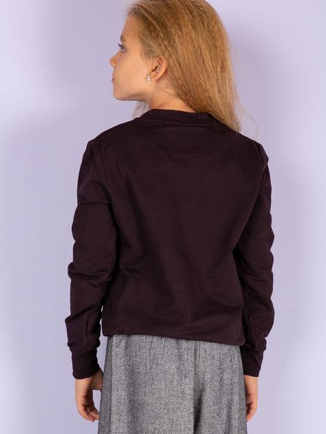 Ciemnofioletowa bluza młodzieżowa                              zdj.                              3