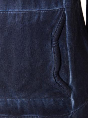 Ciemnoniebieska bluza z kapturem z efektem sprania                                  zdj.                                  10