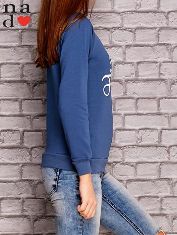 Ciemnoniebieska bluza z napisem MAM FOCHA                                  zdj.                                  3